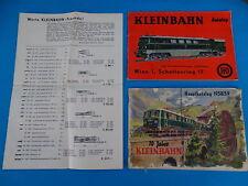Kleinbahn Set catalogues 50-60-ies