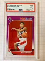 Rui Hachimura 2019 Panini Hoops #206 Rookie Purple SP PSA 9 Mint Wizards