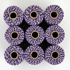 BAKERS TWINE - TWO TONE PURPLE WHITE - ONE 100m roll 12ply - gift wrapping