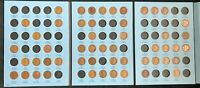 Partial Set 1909-1940 (52) Coins Lincoln Wheat Cent Albums - Early Dates #L1