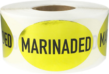 Marinaded Meat Grocery Food Stickers, 1.25 x 2 Inches, 500 Labels on a Roll
