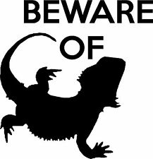 Beware Of Bearded Dragon Vinyl Sticker 10cm Picture Wall Art Car Sticker Decal