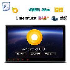 "Octa Core 10,1"" Doppel 2DIN Android 8.0 4GB RAM 32GB Autoradio DVD GPS Navi DAB+"