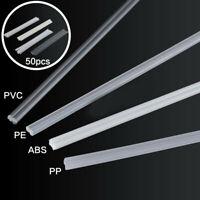 50Pcs PVC ABS PP PE Plastic Welding Rods Electrodes Kit For Welder Machine Tools
