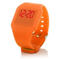 Digital Silikon LED Armband Uhr Armbanduhr Watch Unisex Fitness Sport Orange