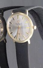 Vintage Jules Jurgensen 14k Solid Gold Men's Winding Watch 1960s Textured #32521