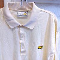 Slazenger Mens Polo Shirt Size XL Yellow Augusta National Golf Shop Masters PGA