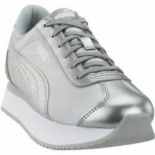 PUMA Glitter Silver Athletic Shoes for
