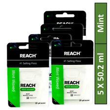 Reach Mint Waxed Dental Floss 55 Yards X 5 Flosses