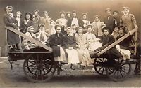 Real Photo Postcard Wagon Full of Girls~112256