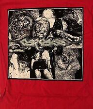 CARCASS cd cvr I REEK OF PUTREFACTION One Foot Grave Official RED SHIRT LRG new