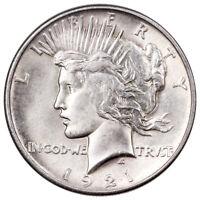 1921 Silver Peace Dollar BU Brilliant Uncirculated $1 Coin SKU55147
