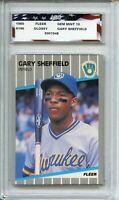 1989 Fleer Glossy #196 Gary Sheffield Rookie AGC 10 Gem Mint Milwaukee Brewers