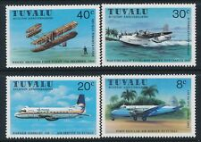 1980 TUVALU AVIATION SET OF 4 STAMPS FINE MINT MNH
