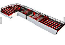 12,000 sqft Turnkey Trampoline Park Dodgeball Rock Gym Inflatable We Finance