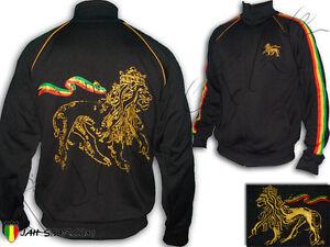 Rasta Jacket Jacke Reggae Rastafari Conquering Lion Of Judah Jah Star Polyester