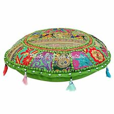 Vintage Patchwork Pillow Cover Indian Embroidered Cotton Floor Cushion Pillows
