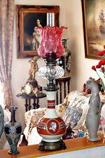 """Antique très rare anglais victorien HINKS 'Gregg & Fils """"Grecian style lampe à pétrole"""
