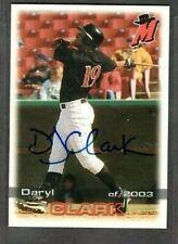 2003 Grandstand #19 Daryl Clark High Desert Mavericks Signed Autograph (B55)
