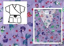 NEW Scrubs  ~  Mock Wrap Print Scrub Top  ~  XL  ~  Bug Art