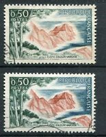 FRANCE 1963 timbre 1391, variété de couleurs, COTE d' AZUR VAROISE, oblitérés