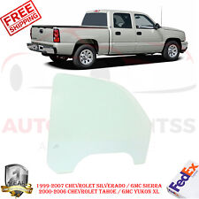 Front Passenger Right Door Glass For 99-07 Silverado Sierra / 00-06 Tahoe Yukon