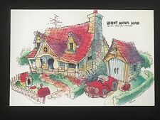 DISNEYLAND Concept Art Postcard 50th Toontown Mickey Mouse House Don Carson