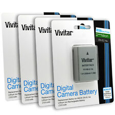 4x Vivitar EN-EL14a Battery for Nikon DF D5500 D5300 D5200 D5100 D3300 D3200