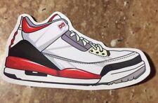 "Nike Air Jordan Retro 3 III ""Fire Red"" White/Fire Red-Cement Grey Sticker"