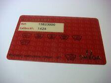 Genuine Original OMEGA Pictograms watch card 15823000 1424 Constellation