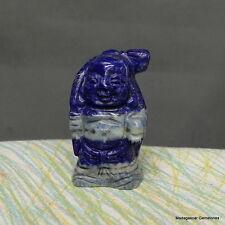"2.50"" Gorgeous Deep Blue Lapis Lazuli Buddha Stone, Lzl26"