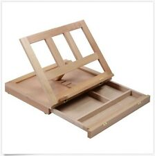 Art Folding Artist Table Desk Easel Portable Wood w/ Drawer For Painting Drawing