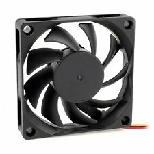 70x70mm Black 12V 3-Pin PC Computer Case CPU DC Brushless Cooler Fan N3