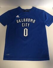 Russell Westbrook Thunder Basketball Adidas Climalite Shirt Boys Size 5/6