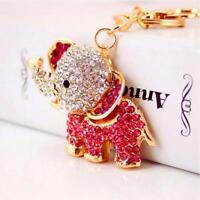 Crystal Elephant Pendant Keychain Car Snap Hook Keyring Key Ring Chain Jewelry