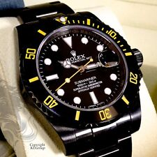 Black ROLEX Submariner KingsLife Limited Edition GIALLO YELLOW DLC / PVD  116610