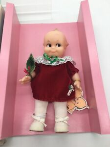 """Vintage Kewpie Rubber Doll  Moving Joints Limbs & Head 7.5"""" Tall D11"""