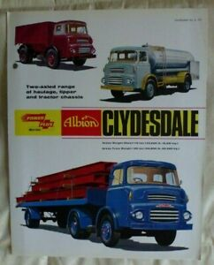 Albion Clydesdale truck: colour illustrated sales brochure: folded, July, 1965