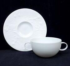 Rosenthal Magic Flute Zauberflöte Wiinblad White Flat Cream Soup Bowl & Saucer
