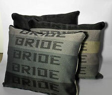 JDM BRIDE PILLOW Graduation for Drift Race School, Car back seat cushion gift