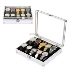 12 Slot Jewelry Watch Storage Box Collection Case Display Organizer ER99 01
