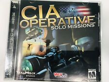 CIA Operative Solo Missions PC Video Game Computer Game Tested Works Rare