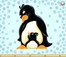 "Susybee's Gwyn Penguins play mat 100% cotton 43"" x 35"" fabric panel"