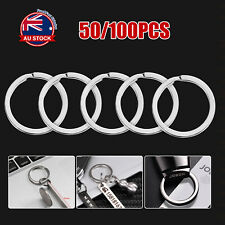 Bulk 100pcs 25mm Metal Key Holder Split Rings Keyring Keychain Accessories D