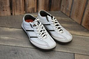 SKECHERS BOARDWALK SNEAKERS DOLBY SHOES LOAFER LACE UP SZ 7 WHITE CASUAL NEW MEN
