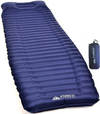 New listing IFORREST Camping Sleeping Pad w/Armrest & Pillow - 4 Inch Ultra-Thick Side Sleep