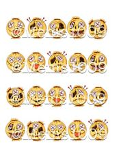 Voo Doo Doll Nail art (water Decals) Smiley Face Nail Art