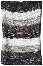 Betsey Johnson Infinity Cowl Neck Crystal Knit Scarf Snood Gray Black