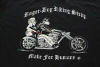 Ruger Dog Riding Strap Motorcycle TEE T SHIRT XL Extra Large