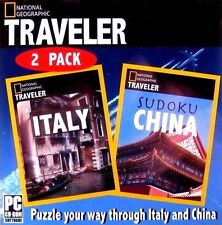 National Geographic Traveler 2 Pack: Italy + Sudoku China (New PC Game) Puzzles
